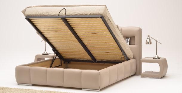 łóżka Tapicerowane Z Pojemnikiem Atm świat Sypialni